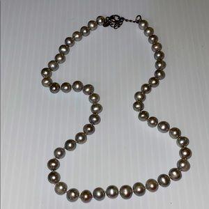 Vintage grey pearls